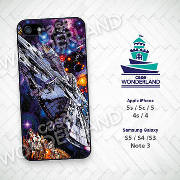Phone Case, Star Wars, Millennium Falcon, Han Solo, iPhone 5 case, iPhone 5C Case, iPhone 5S case, iPhone 4 Case, iPhone 4S Case, Skin,STW14