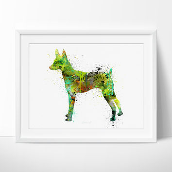 Toy Fox Terrier Watercolor Print, Children's Poster, Art Home Decor, Dog Watercolor, Animal Watercolor Poster (58)