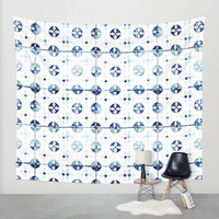 tiles - Portuguese azulejos Wall Tapestry by Ingrid Beddoes   Society6