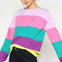 Stripe Around the Corner Sweater