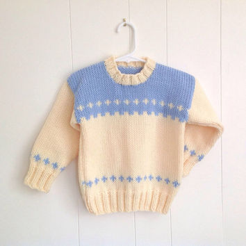 Girls sweater - 2 to 3 years - 4 years - Girls knitted jumper - Childs knit sweater - Childrens clothes