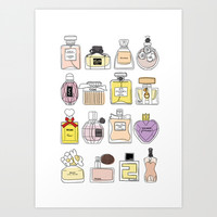 Perfume Art Print by thedreamingclouds