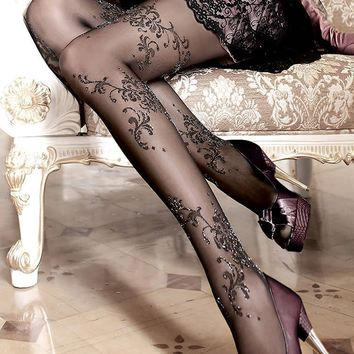 Ballerina Hosiery 096 Tights Pantyhose Sparkle Metallic Lurex