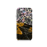 Black Space with Black Gold Marble case, Galaxy S6 Case, iPhone 6 case, iPhone 6 Plus case, iPhone 5 case 5s case, 5c case, LG G3 case