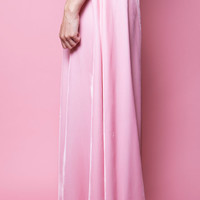 Pink Velvet Maxi Skirt from the 1970's