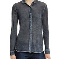 Majestic Silk Button Down Blouse | Bloomingdales's
