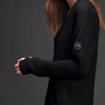 Canada Goose Women Fashion Knit Top Sweater Pullover