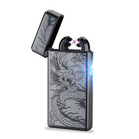 Usb Rechargeable Windproof Double Pulse Electric Arc Lighter