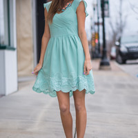 Always Classic Dress, Sage