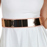 Sale-gold Mirrored Plated Belt