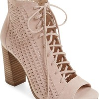 Vince Camuto Kevina Lace-Up Open Toe Bootie (Women) | Nordstrom