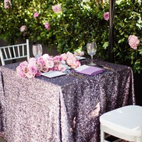 Lavender Sequin Tablecloth different sizes