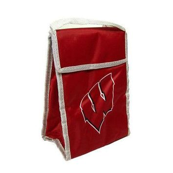 Licensed Wisconsin Badgers Official NCAA Insulated Lunch Box Bag by FC 330319 KO_19_1