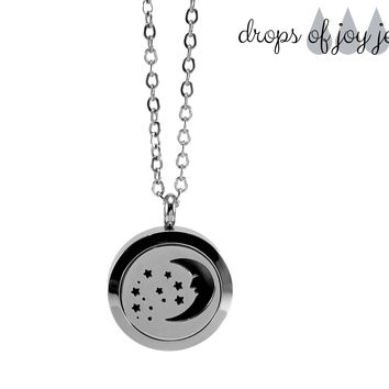 Diffuser Necklace - Moon & Stars