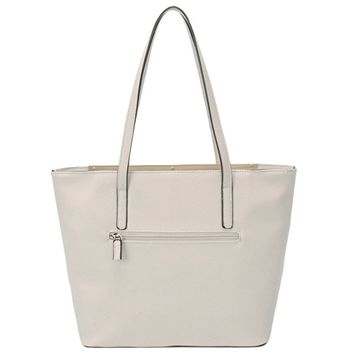 DAVIDJONES Women's Top Handle Shoulder Handbags Tote Purse