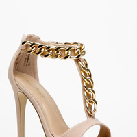 Anne Michelle Ankle ChainT Strap Heels