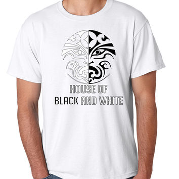 House of black and white men t-shirt