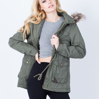 Furry Nice Parka Jacket - Large