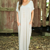 Lost In Thought Maxi Dress, Heather Gray