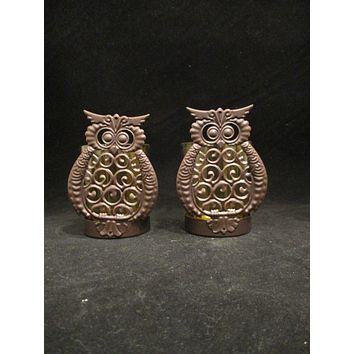 Owl Votive Candle Holders  S/2
