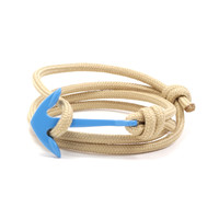 Light Blue Anchor on Tan Rope