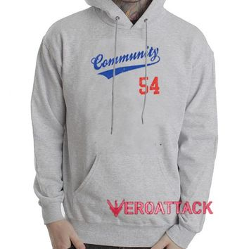 Community 54 Grey color Hoodies