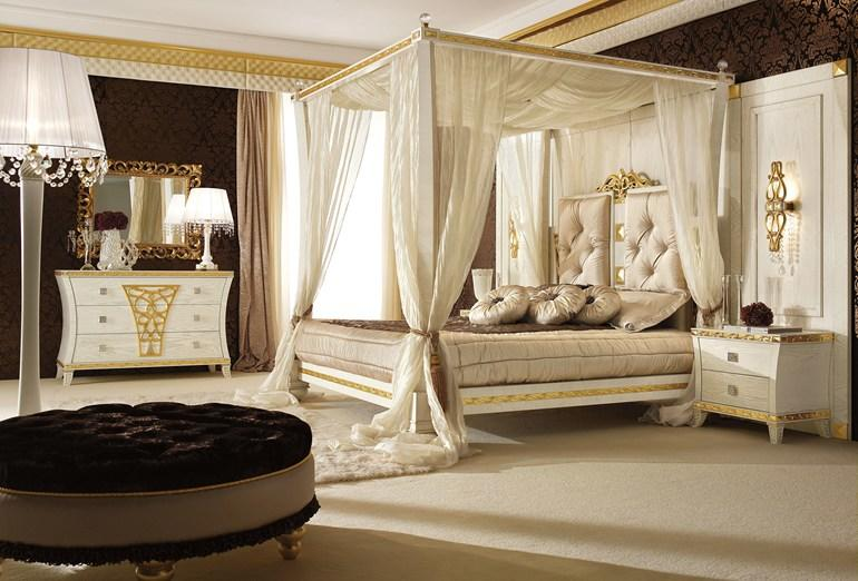 Lit Baldaquin De Lux : Canopy bed with upholstered headboard from archi products