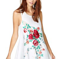 Nasty Gal Painted Rose Dress
