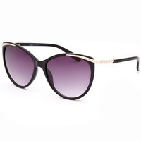Full Tilt Cateye Sunglasses Black One Size For Women 25781710001
