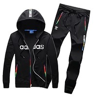 Adidas: couple sports suit clover