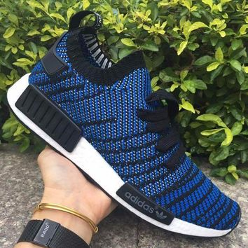 ESBON Best Online Adidas NMD R1 Stlt Spring Summer 2018 Line up Blue Running Sport Shoes Camouflage Sneakers  Casual Shoes