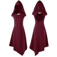 Cut Out Hooded Festival Dress