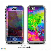 The Neon Splatter Universe Skin for the iPhone 5c nüüd LifeProof Case