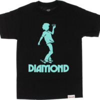 Diamond Skate Kid Ss Xxl-Black