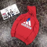 ADIDAS Fashion Casual Women Men Long Sleeve Hoodie Sweater Red G-A-GHSY-1
