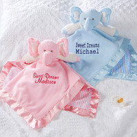Soft and Cuddly Personalized Elephant Baby Blankets