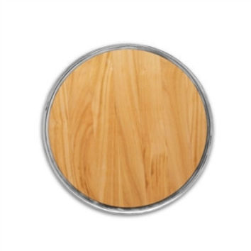 Match Pewter Round Cheese Board with Wood Insert