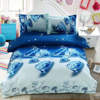 Home Textile 2016  HOT 3d Bedding Sets  Rose Flower Bed  Cover Bed Linen Bed Sheet Pillow Case Queen Bedding Set