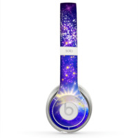 The Glowing Pink & Blue Comet Skin for the Beats by Dre Solo 2 Headphones