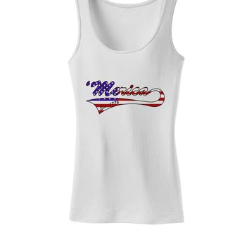 Merica Established 1776 - American Flag Style Womens Tank Top by TooLoud