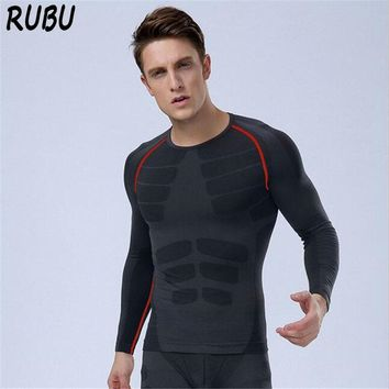 Compression Men Shaper Long Sleeve Body Shaper Tops Underwear Slimming Shapewear Quick Dry Stretch Men Thermo Tights 5AD35