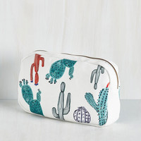 Rustic You and Cacti Makeup Bag by IMM Living from ModCloth
