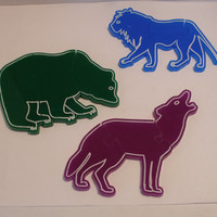 Three Piece Puzzles Set of three Wild Animals