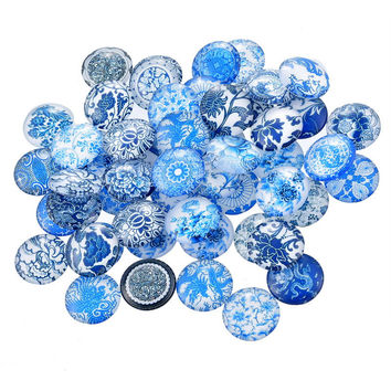 10PCs Random Mixed Round Glass Cabochon Cameo Patch Fit Cabochons Settings For Jewelry Making DIY Fine Jewelry Findings 12mm