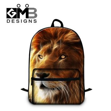 Cool Backpack school Cool Lion 3D printing school backpacks for students fashion boys lightweight Illustration back pack cute bookbags for teenager AT_52_3