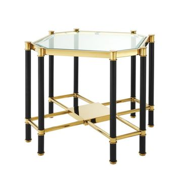 Glass Gold Frame Side Table | Eichholtz Florence