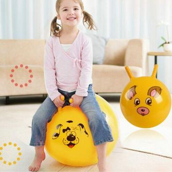 DCCK1IN 1pcs new 10 thickened size inflatable massage jumping ball pvc material bouncing balance ball for children health care