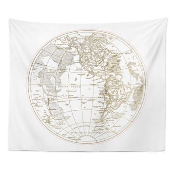 'Ocean Pacifique Round' Wall Tapestry