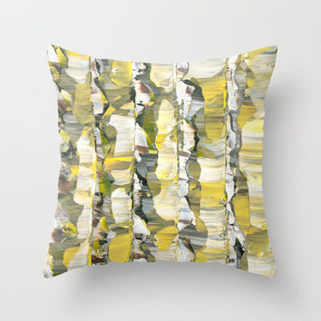 Drifting Along the Yellow Plains Throw Pillow by Arthur V. Commerce | Society6