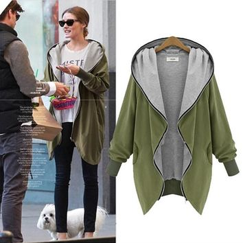 Winter Coat Fashion Casual Hooded Parka Large Size Jacket Loose Outerwear